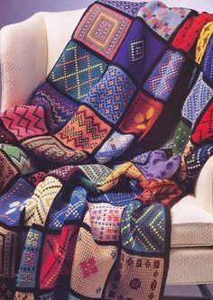 ergahandmade: Crochet Blanket + Diagrams