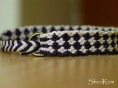 Chessboard Friendship Bracelet by Shedrem on Etsy, $8.00