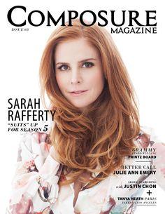 Cover shoot: Sarah Rafferty