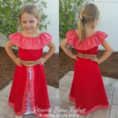 Walking into the Disney Store a few months ago, Harbor immediately ran over to the new Princess Elena of Avalor section. The new princess' dress immediately cau
