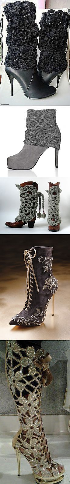 Shoes with their own hands.  Ideas for inspiration ..