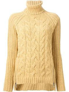 Shop See By Chloé cable knit and ribbed turtle neck sweater in Noténom from the world's best independent boutiques at farfetch.com. Over 1000 designers from 60 boutiques in one website.