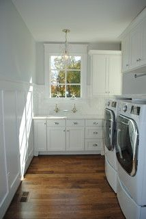 Finish off cabinets with crown moulding