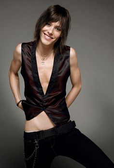 Currently obsessed with The L Word. But she looks like she needs a sandwich in this picture.