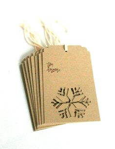 Gift tags - could have other dye cuts, too