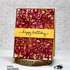 Numbers Stencil   Count Me In   Birthday card   Visible Image   Judy Rozema Birthday Numbers, Birthday Cards, Happy Birthday, Number Stencils, Birthday Sentiments, Image Stamp, Counting, Birthdays, Create