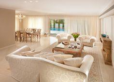white tiled livingroom - Google Search