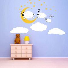 Counting Sheep wall decal kids mural - nursery decor