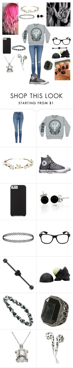"""Untitled #184"" by kyleruniverse ❤ liked on Polyvore featuring Topshop, Cult Gaia, Converse, Case-Mate, Bling Jewelry, Wet Seal, Allurez, women's clothing, women and female"