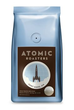 Atomic Roasters // 10 Best Coffee Bean Packaging Designs for National Cappuccino Day #packagingdesign #design #resume