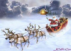 weihnachten gif Un trs gro - Merry Christmas Gif, Christmas Scenes, Christmas Cards To Make, Christmas Pictures, Christmas Art, Winter Christmas, Vintage Christmas, Christmas Glitter, Christmas Greetings
