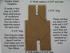 Bow making template