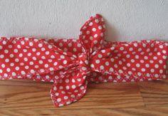 Baby Headband, RED WHITE Hairband,  PinUp HairBand,  Boho Baby, Hip, Baby Toddlers