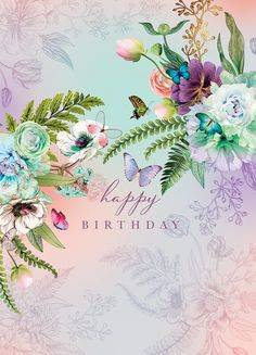 Happy Birthday Frau, Happy Birthday Greetings Friends, Happy Birthday Pictures, Happy Birthday Cards, Birthday Wishes Flowers, Birthday Wishes Messages, Motif Floral, Zentangle, York
