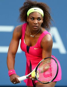Serena Wiliams at the 2012 US Open wearing a watermelon inspired outfit.