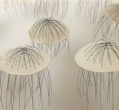 By Carmen Ballester (interesting mix of ceramic and wire pieces)