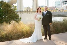 Jessie + Mo's modern wedding ceremony & reception with Infinity Events & Catering at The Bridge Building Event Spaces in downtown Nashville. #exploreinfinitenashville