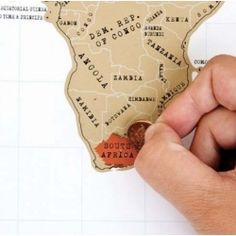 The Scratch Map -scratch off the areas you've visited to mark your travels!