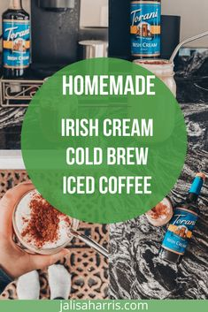 Spring is here and that means it's iced coffee season. This homemade irish cream cold brew iced coffee takes less than 3 minutes to make and costs less Homemade Iced Coffee, Cold Brew Iced Coffee, Easy Weeknight Meals, Easy Meals, Homemade Irish Cream, Taste Made, Yummy Smoothies, Healthy Dinner Recipes, Yummy Recipes