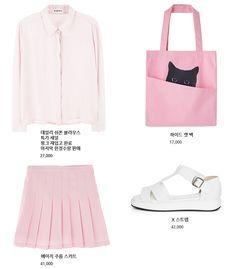 """molangg: """" blouse / skirt / shoes / bag """""""