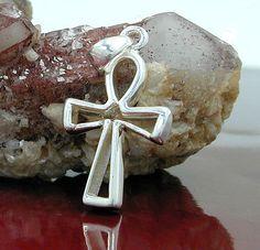 Anhänger, kleines Kreuz, 925