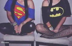 Superman & Batman BFF shirts. I call batman @Cady Wachzburger Loewe