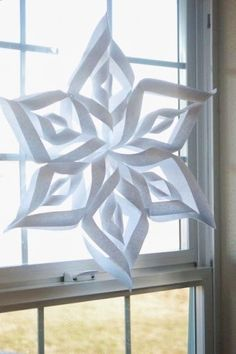 Disney 3D Frozen Paper Snowflake Decorations - Curtain Decor Designs for 2015 Halloween - LoveItSoMuch.com