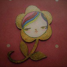 """Flor"" Arte miniaturas funcionales (imán) Pedido listo para entregar."