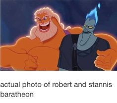 Actual photo of Robert and Stannis Baratheon - Game Of Thrones Memes Solangelo, Percabeth, Percy Jackson Memes, Percy Jackson Books, Percy Jackson Fandom, Magnus Chase, Khal Drogo, Jon Snow, Trials Of Apollo