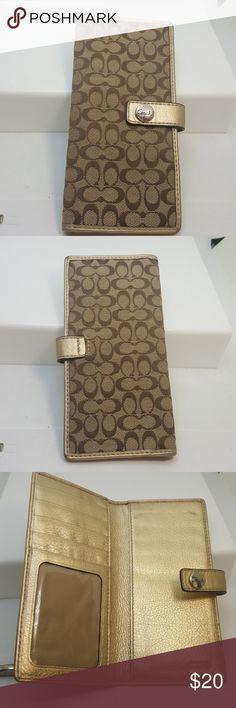 Coach check book wallet Coach check book wallet Coach Bags Wallets