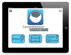 Comprehension Therapy speech app for Understanding Words for Aphasia Speech Pathology, Speech Therapy, Aphasia, Single Words, Brain Injury, Speech And Language, Reading Comprehension, Helping People, Middle School