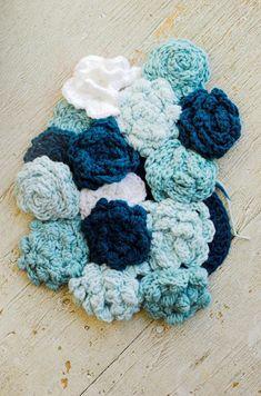 Crochet flower mat.  A reason to learn how to crochet.