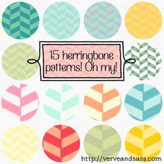 FREE DOWNLOAD: 15 HERRINGBONE PATTERNS