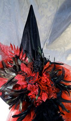 Rara's Red Witch Hat by Marcellefinery on Etsy