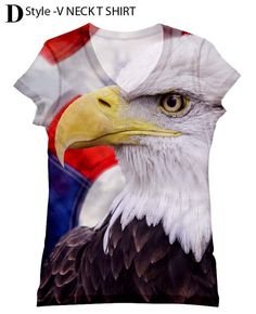 woman  Eagle print  top t shirt and tank  xs  plus by hellominky, $28.95