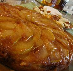 caramelized pear upside down cake