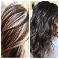 gray hair highlights and lowlights Best Curl Products, Hair Highlights And Lowlights, Curls, Long Hair Styles, Grey, Hair Ideas, Image, Beauty, Platinum Highlights