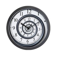 """Incredible Spiral Wall Clock - want this for my """"minimalist"""" house!! Lol"""