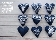 Knit Fair Isle Hearts Knitting pattern by Midknits - fair isle knittings Fair Isle Knitting Patterns, Christmas Knitting Patterns, Fair Isle Pattern, Knitting Charts, Crochet Patterns, Free Knitting, Fair Isle Chart, Knit In The Round, Paintbox Yarn