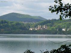 Abbey Maria Laach, Germany Bike or walk around the lake.