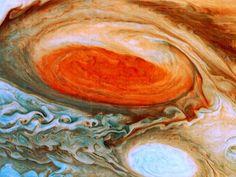 Photo: the red spot on Jupiter