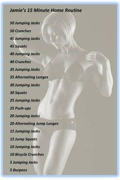 Jaime Eason's 15 minute workout routine.