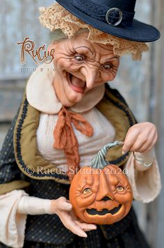 Original artwork created by Scott Smith of Rucus Studio © 2020 Halloween Doll, Halloween Crafts, Scott Smith, Studio C, Candy Containers, Hallows Eve, Witches, Original Artwork, Coloring
