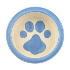Melia Ceramic Designer Dog water dish with hand painted design – OfficialDogHouse