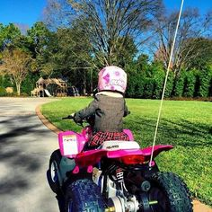 Every 3 year old Country Girl needs her own 4 wheeler. 3 Year Old Girl, Se7en, 3 Year Olds, Country Girls, Nascar, Champion, Action, Sports, Hs Sports