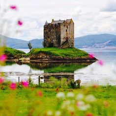 Just 25 miles north of Oban sits Castle Stalker. Worth a wee detour if you're in the area! Romancing The Stone, Places In Scotland, West Coast Scotland, Scottish Castles, Medieval Castle, Scottish Highlands, London Travel, Great Britain, Places To See