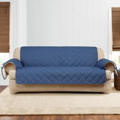 Sleeper Sofas Dual Reclining SOFA Slipcover Denim Blue Jeans Sure Fit Recliner Couch Cover Home Decor that I love Pinterest Reclining sofa Sofa slipcovers and