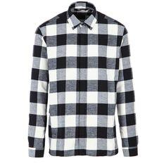 Risultati immagini per camicia scacchi bianca e nera uomo
