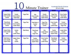 10 Minute Trainer Accelerated Schedule 30 min