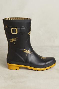 Slide View: 2: Joules Molly Printed Rain Boots